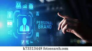 Personal branding brand development business education concept.