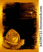 Rose golden grunge