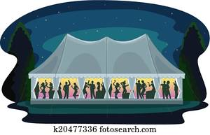 Tent Party Wedding Reception