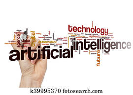 Artificial intelligence word cloud