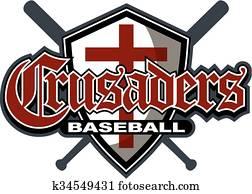 Clip Art of Baseball or Softball Crossed Bats w k7153646 ...