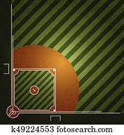 Realistic Denim texture of Baseball field element vector illustration design concept