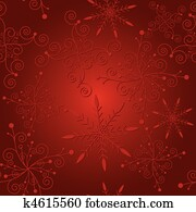 Abstract red christmas seamless