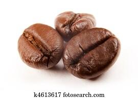 coffee beans; macro image
