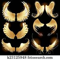 golden wings of angels