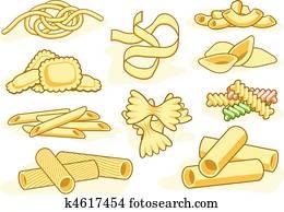 Pasta shape icons