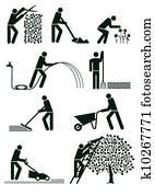 Gardening pictogram