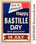 Happy Bastille Day poster