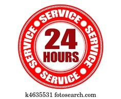Label 24 hour service