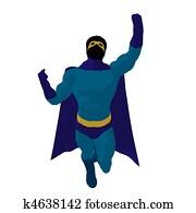 Super Hero Illustration Silhouette