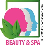 Beauty faces fashion spa logo