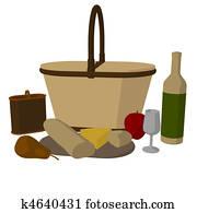 Picnic Basket Illustration