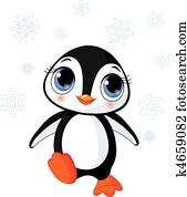 Cute winter penguin