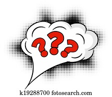Comic question mark