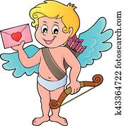 Cupid with envelope