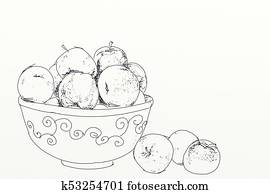 apples in a fruit bowl