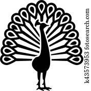 Beautiful peacock symbol