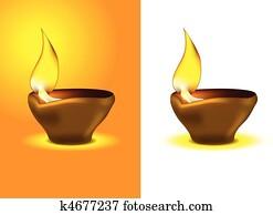 Diwali Diya - Oil lamp for dipawali