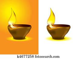 Diwali Diya - Oil lamp for dipawali celebration