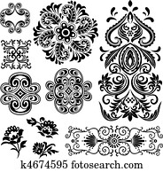 fancy swirl floral pattern design