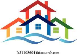 Logo real estate houses