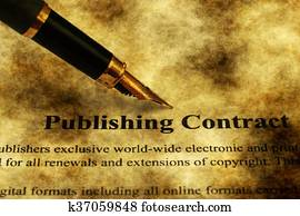 Publishing contract grunge concept