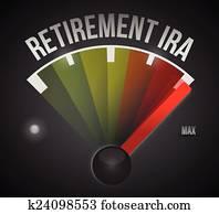 retirement ira speedometer illustration