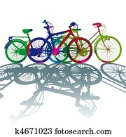 Silhouette color dot bike