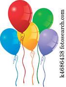 party, luftballone
