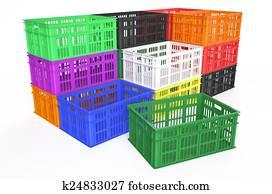 stack plastic crates