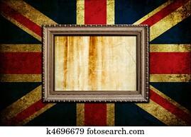 Frame on England flag