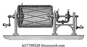 Old illustration: bakery machine