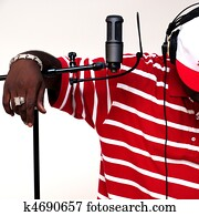 rapper/artist, mit, mikrophon