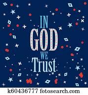 In God We Trust poster design