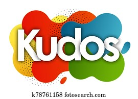 Kudos in color bubble background