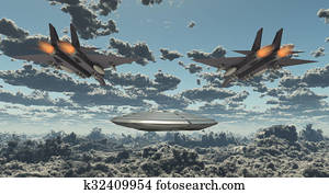 Military Jets Pursue UFO