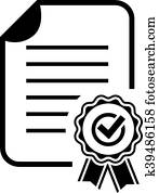 Approval certificate icon