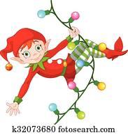 Christmas Elf on Garland