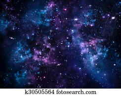 Galaxy, abstract blue background