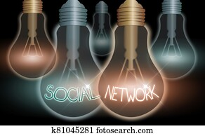 Word writing text Social Network. Business concept for Interactions Sharing Information Interan individualal relationship.