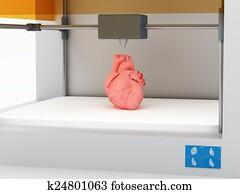3d printed human heart