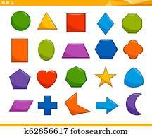 educational basic geometric shapes