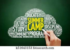 Summer Camp word cloud