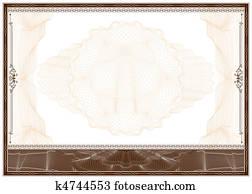 Blank diploma or certificate border
