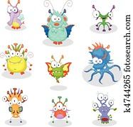Cartoon monsters