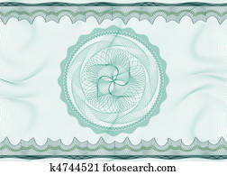 Guilloche pattern with rosette