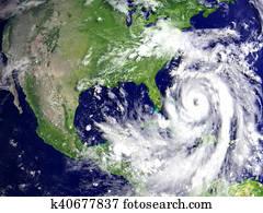 Hurricane Matthew above Florida