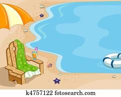 Beach Chair Background