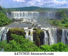 Huge Iguazu waterfalls