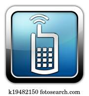 Icon, Button, Pictogram Cell Phone